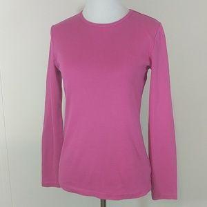 LRL Tee long sleeve pink women's small